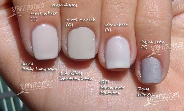 Pin By Michelle C On Polish Me Up Nail Polish Grey Nail Polish Nails