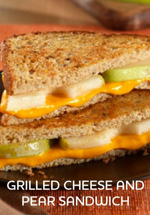 Grilled Cheese and Pear Sandwich - A fun take on a family favorite that only takes 10 minutes to prepare!