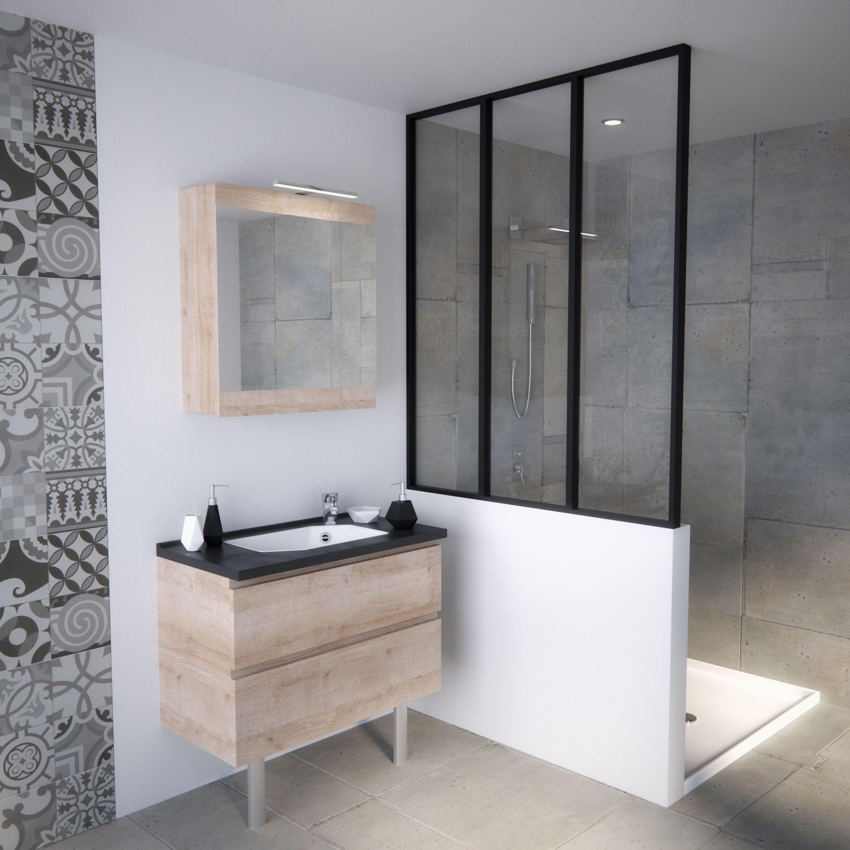 Meuble salle de bain petite taille pratique petits espaces verri re salle de bain r tro loft - Meilleur meuble salle de bain ...