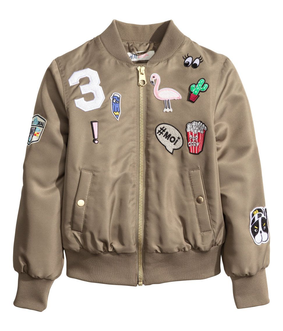 477ce05cf0df7 Pilot Jacket with Appliqués | H&M Kids | H&M KIDS | Fashion, Outfits ...