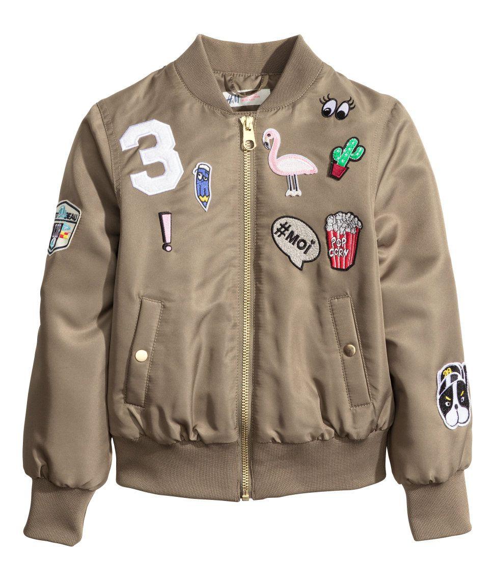 Pilot Jacket with Appliqués H&M Kids Kids fashion
