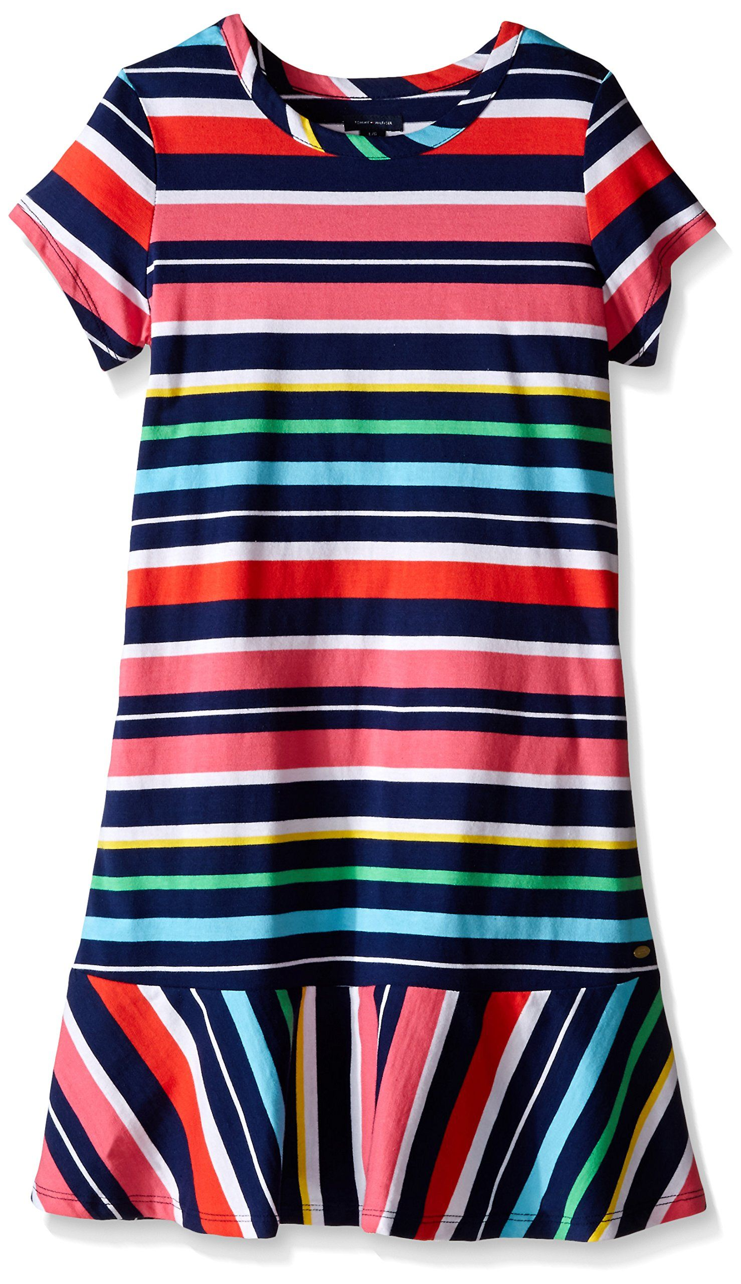 b82873f0a Tommy Hilfiger Little Girls  Yarn Dye Stripe Jersey Dress