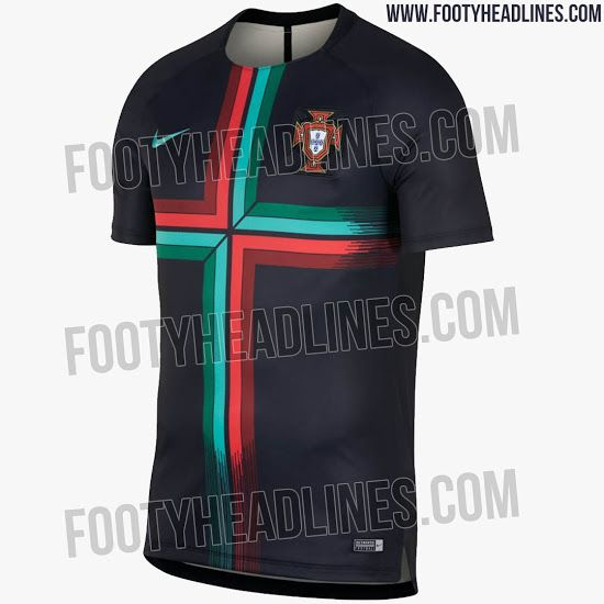 The new Nike Portugal 2018 World Cup pre-match jersey boasts a modern and  unique