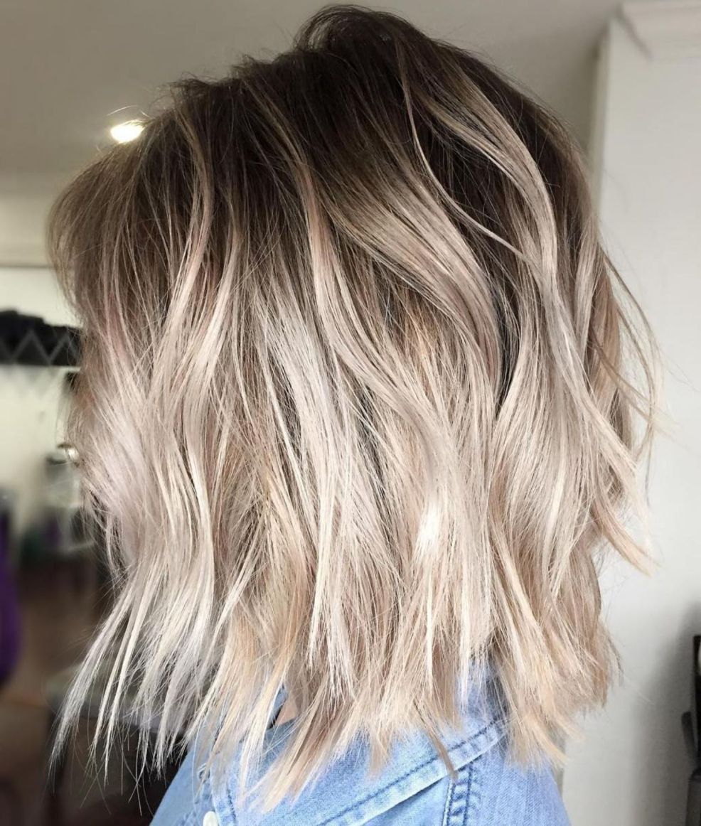 40 Beautiful Blonde Balayage Looks Hair Styles Root Stretch Hair Blonde Short Hair Balayage