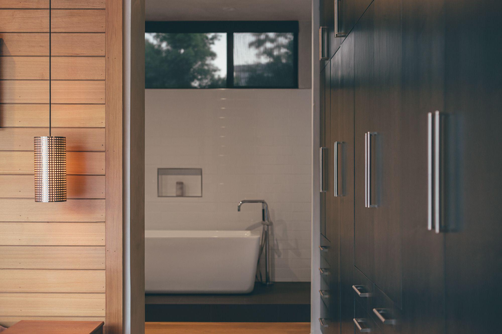 Modern hallway storage ideas  Crestline by ANACAPA  Modern Hallway storage and Bathroom designs