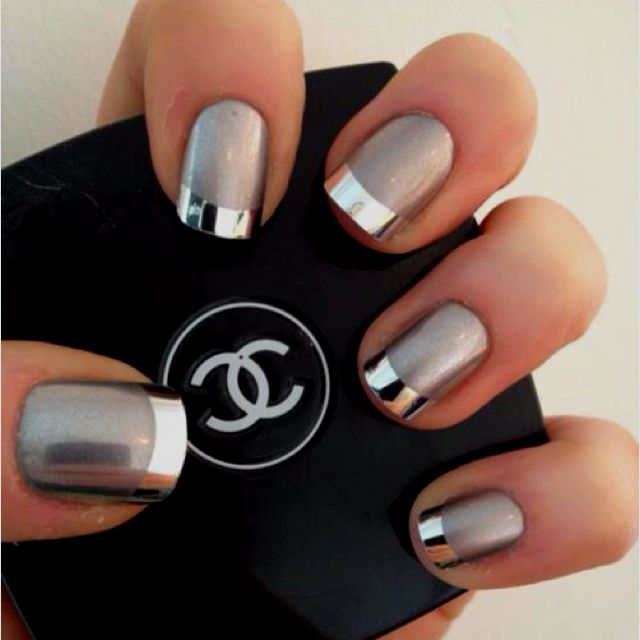Love This Idea Nails Design Uñas Metálicas Uñas