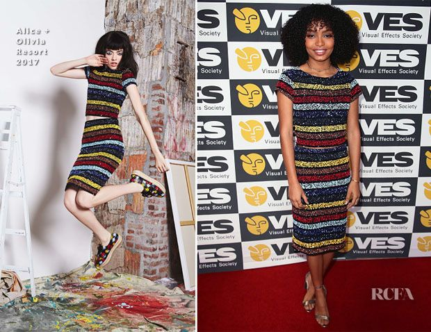 Yara Shahidi In Alice + Olivia – 15th Annual Visual Effects Society Awards | Red Carpet Fashion Awards