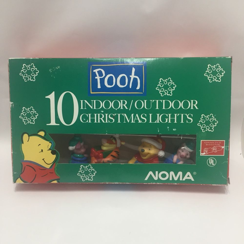 Noma Christmas Decorations: Pooh And Friends Noma 10 Indoor Outdoor Christmas Lights