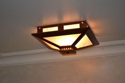Prairie Craftsman Ceiling Light Led Ceiling Light Fixtures