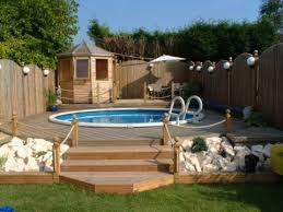 Image result for pallet deck for above ground pool pool for Above ground pool decks made from pallets