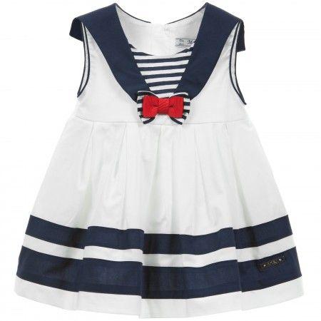 b9be7a157867 Mayoral Newborn - Pink Pinstripe Cotton Shortie Dress ...