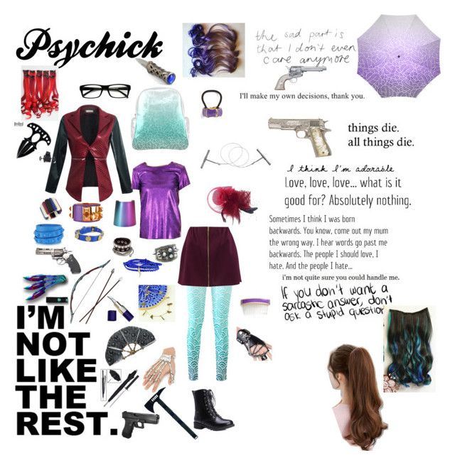 """""""Psychick (S.Squad OC)"""" by allisonwang10011 ❤ liked on Polyvore featuring Effy Jewelry, Boohoo, Drome, L. Erickson, ZeroUV, Valentino, CC SKYE, Minor Obsessions, Lisa Angel and Hermès"""