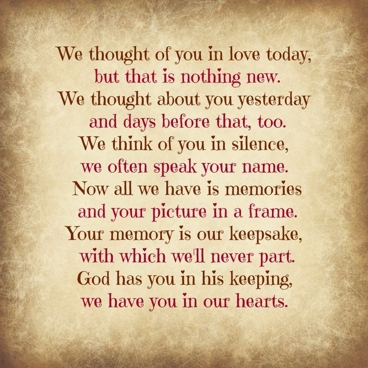 Grieving And Thinking Of You On Death, Loss, Grief
