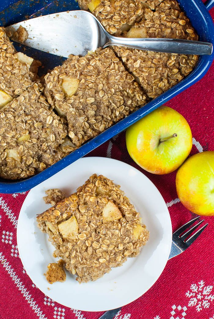 Photo of Baked oatmeal with apple, walnuts and spices {Oatmeal casserole for breakfast}
