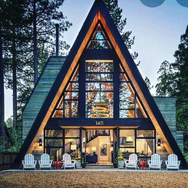 Pin By Ninik On A Frame House Triangle House A Frame House Plans Tiny House Cabin