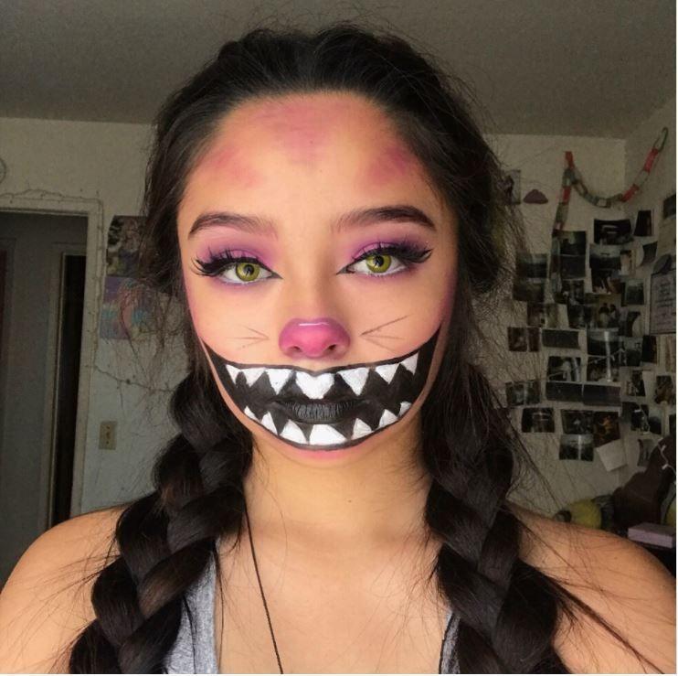 21 Freakishly Cool Halloween Makeup Ideas You\u0027ll Want to Steal Cat - cat halloween makeup ideas