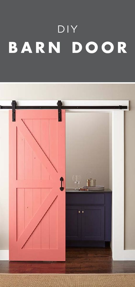 Easy Barn Door Paint And Install Diy Barn Door Barn Door Installation Painted Doors