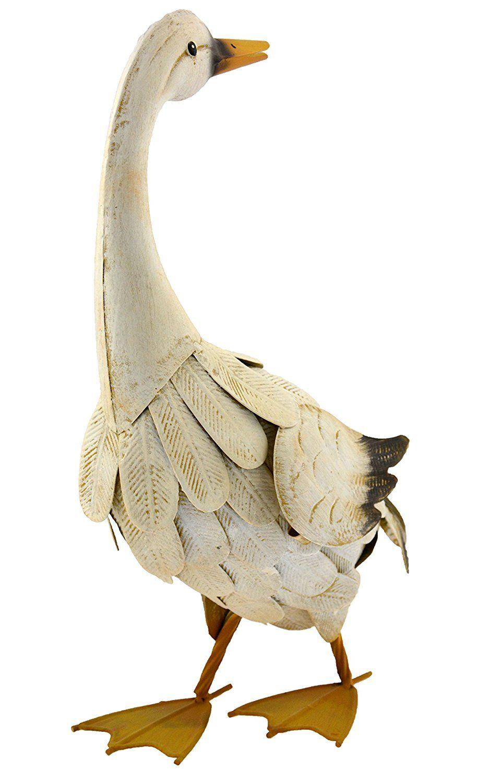 Green jem metal goose garden decoration click image for