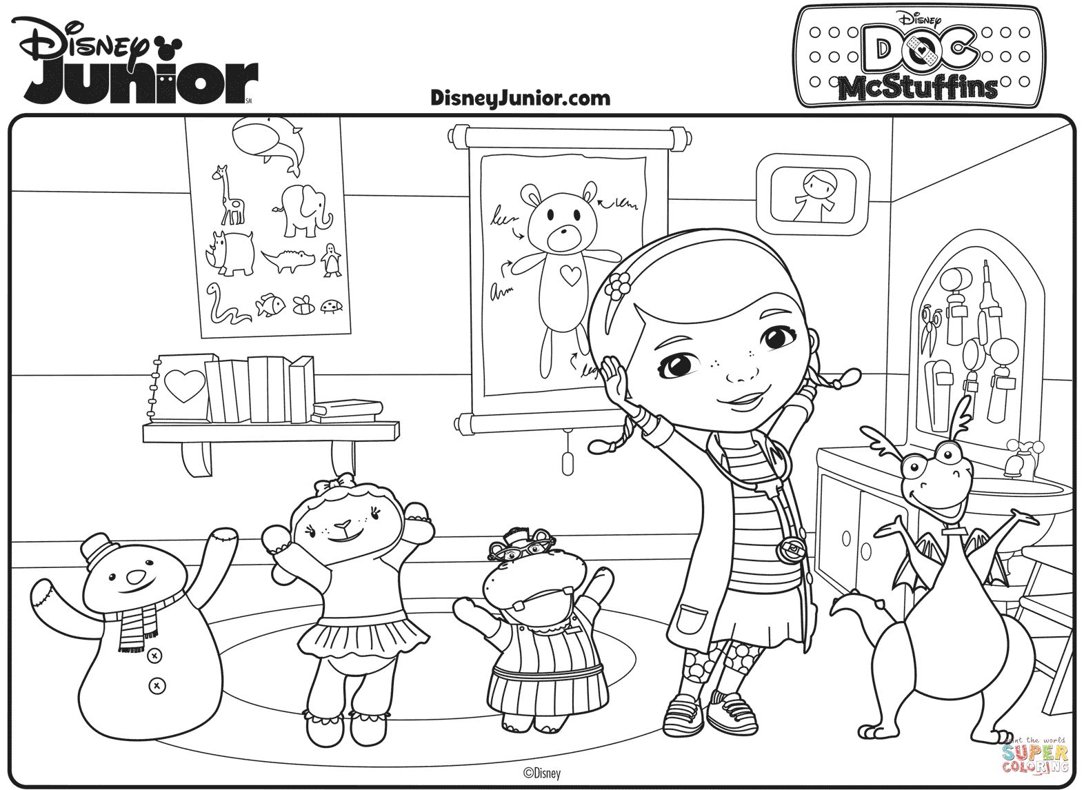 Doc Mcstuffins Coloring Pages Printables