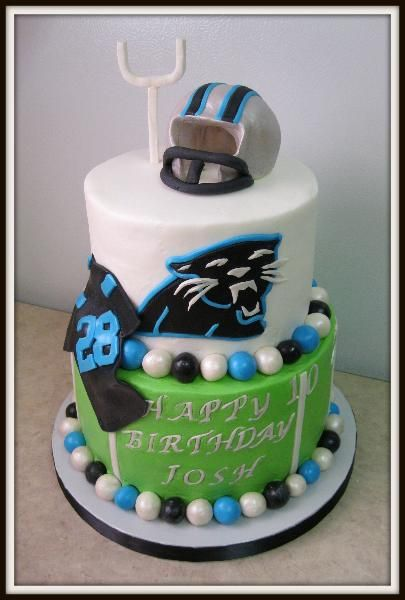 Carolina Panthers Cake | Panthers party in 2019 | Carolina panthers ...