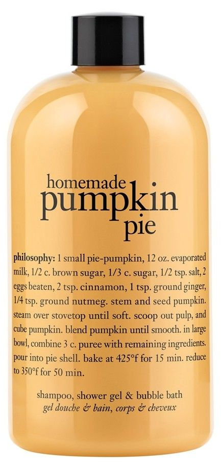Pumpkin Pie Shampoo Shower Gel Bubble Bath A Perfect Fall Scent