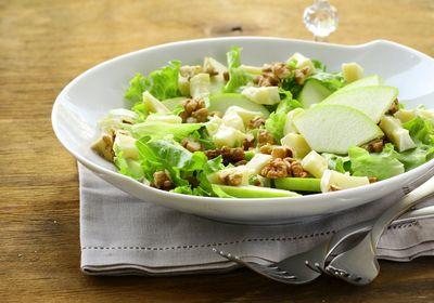 "click image to view recipe for ""Apple Gorgonzola Salad"" using Laurel Gray Artisan Vinaigrette"