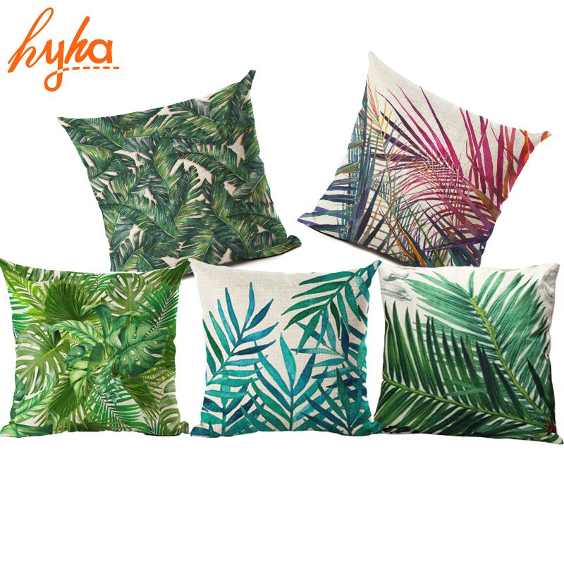 Hyha Anlage Kissenbezug Tropic Baum Grün Wurf Kissenbezug Flamingo Vogel  Dekorative Kissen Blume Kissenbezug Für Sofa