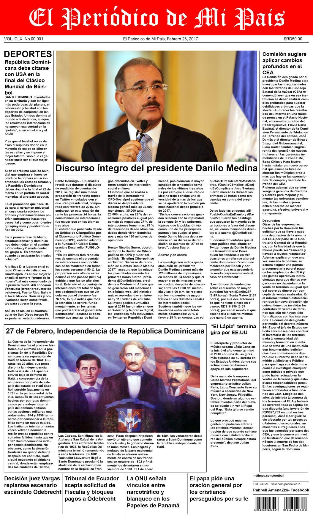 Plantilla de periódico, editable para Photoshop (PSD ...