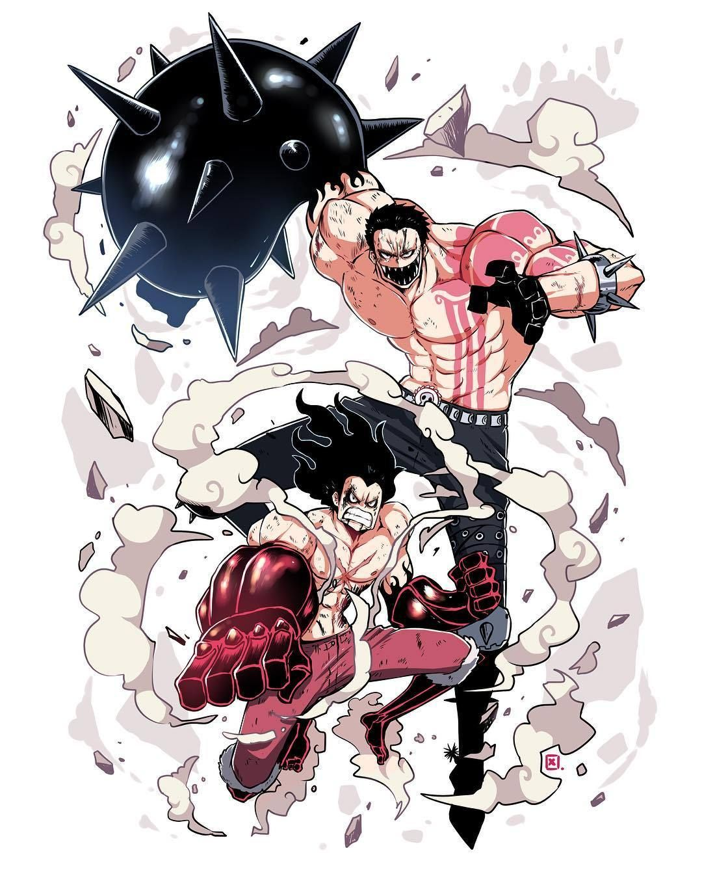 Luffy vs Katakuri Dessin