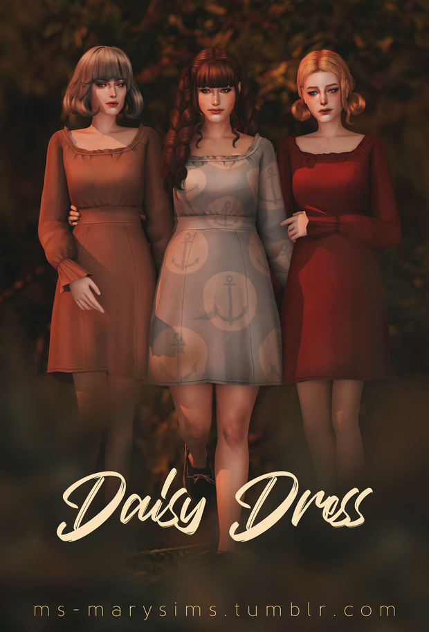 MAXIS MATCH | Daisy Dress | MS | Mary Sims on Patr