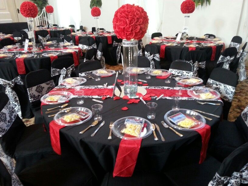 Old Hollywood Table Setting Baby Shower Table Decorations