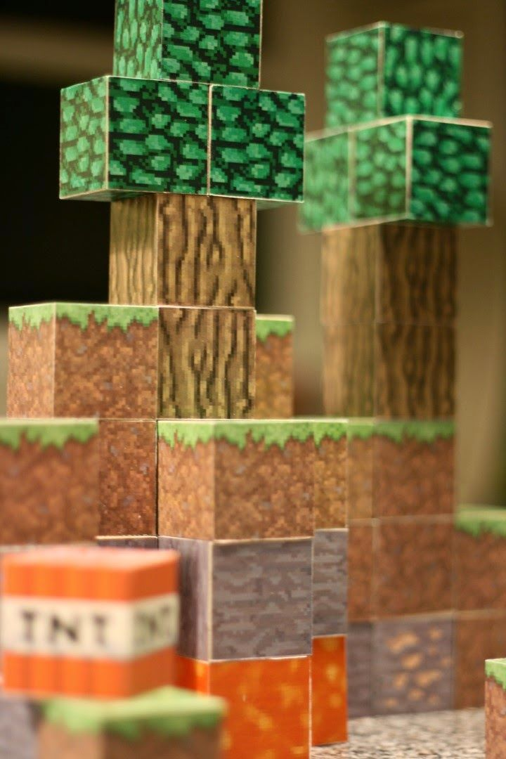 Diy Wood Minecraft Blocks Minecraft Blocks Diy Minecraft Diy Blocks