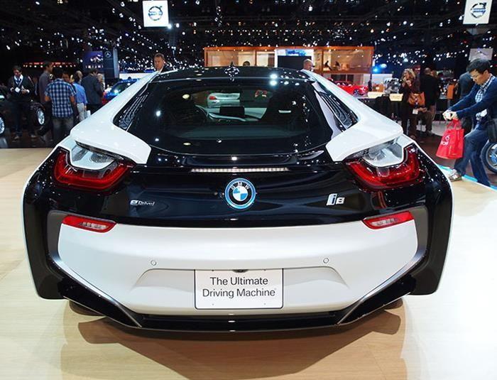 Top New Cars 2015 Bmw I8 Back View Bmw Bmw I8 Sports Car