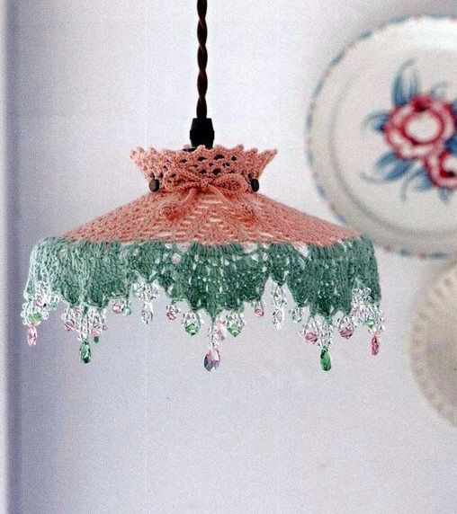 Interesting ideas for decor CROCHET LAMPSHADE АБАЖУР - como hacer lamparas de techo