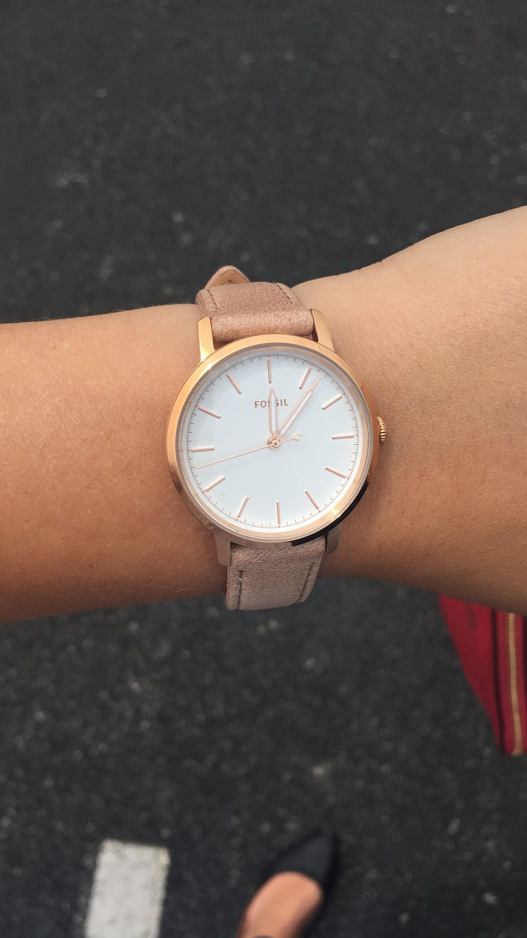 6e6cd5843 Fossil Woman's Neely Three-Hand Sand a leather Watch Love this. It's so  comfortable!!