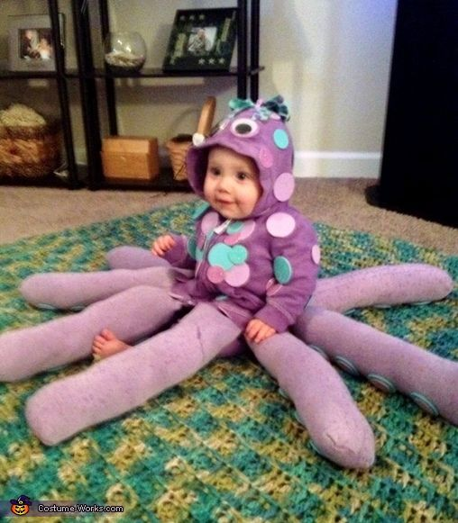 Baby octopus halloween costume contest at costume works baby baby octopus cute diy halloween costume solutioingenieria Image collections