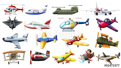Vektor: Different kind of aircrafts