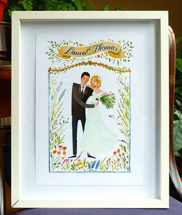 Etsy Finds Get An Artsy Portrait Of Your Wedding Day