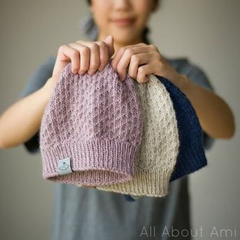 Photo of The Dotty Beanie Knit Pattern – All About Ami