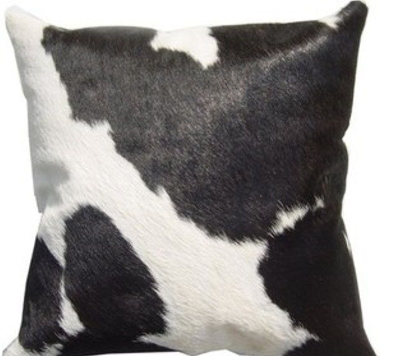 Brazilian Cowhide Black And White Pillow Cover Cushion Case