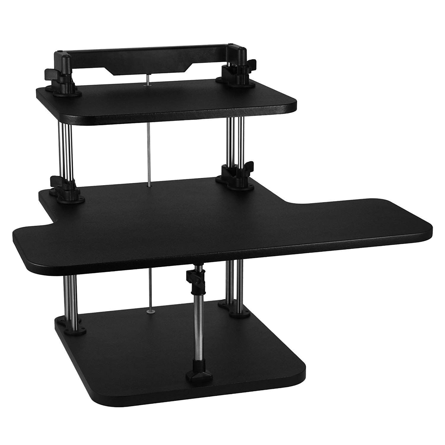 Bestequip standing desk height adjustable stand up desk tier sit