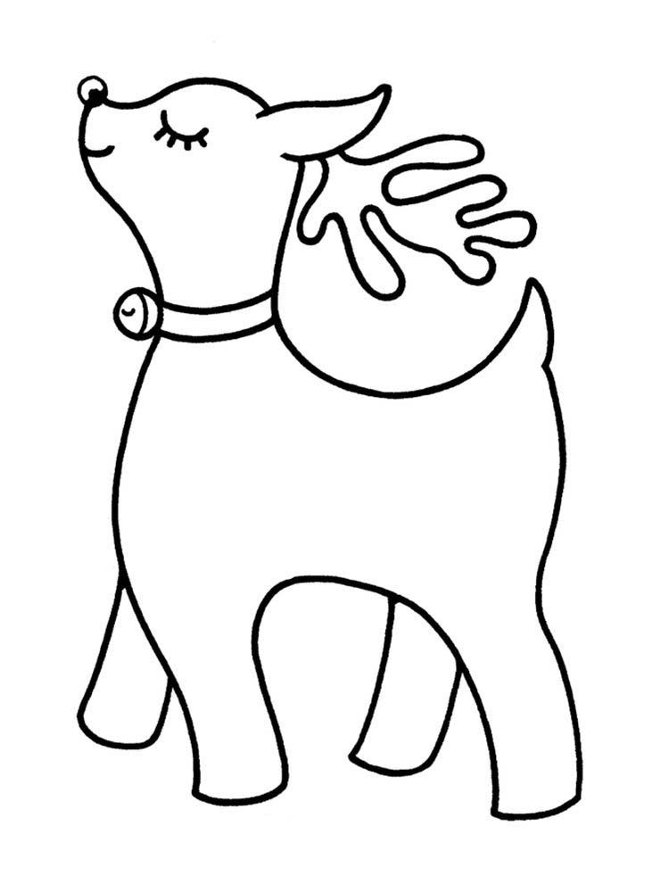 Reindeer Coloring Pages Pdf Reindeer Are Animals That Are Considered To Be Very Numerous In Almost All Parts Of Animal Coloring Pages Reindeer Coloring Pages