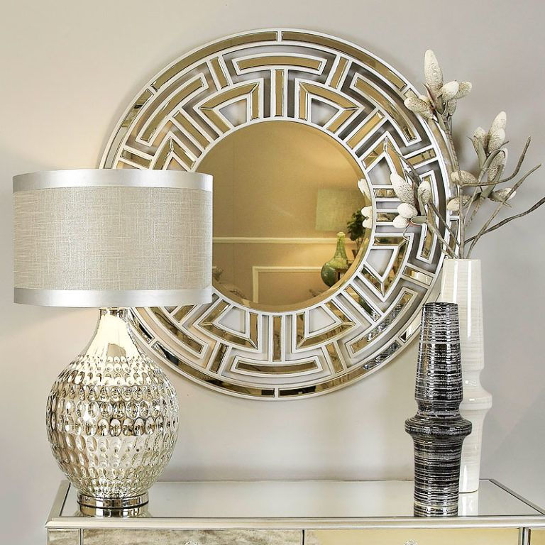 Athens gold aztec circular wall mirror picture perfect