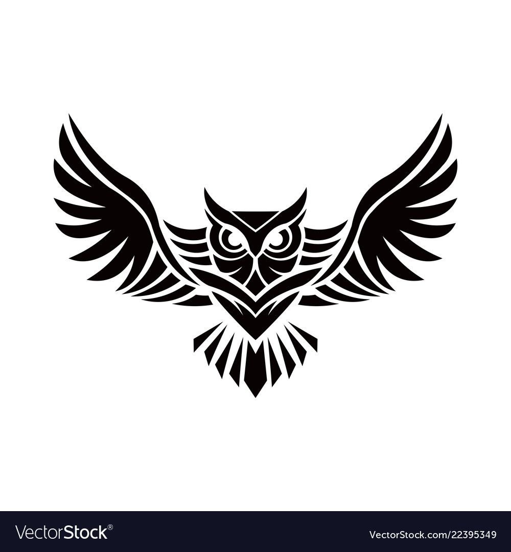 Owl Logo Vector Illustration Emblem Design On White Background Download A Free Preview Or High Quali Owl Tattoo Drawings Owl Tattoo Small Simple Owl Tattoo