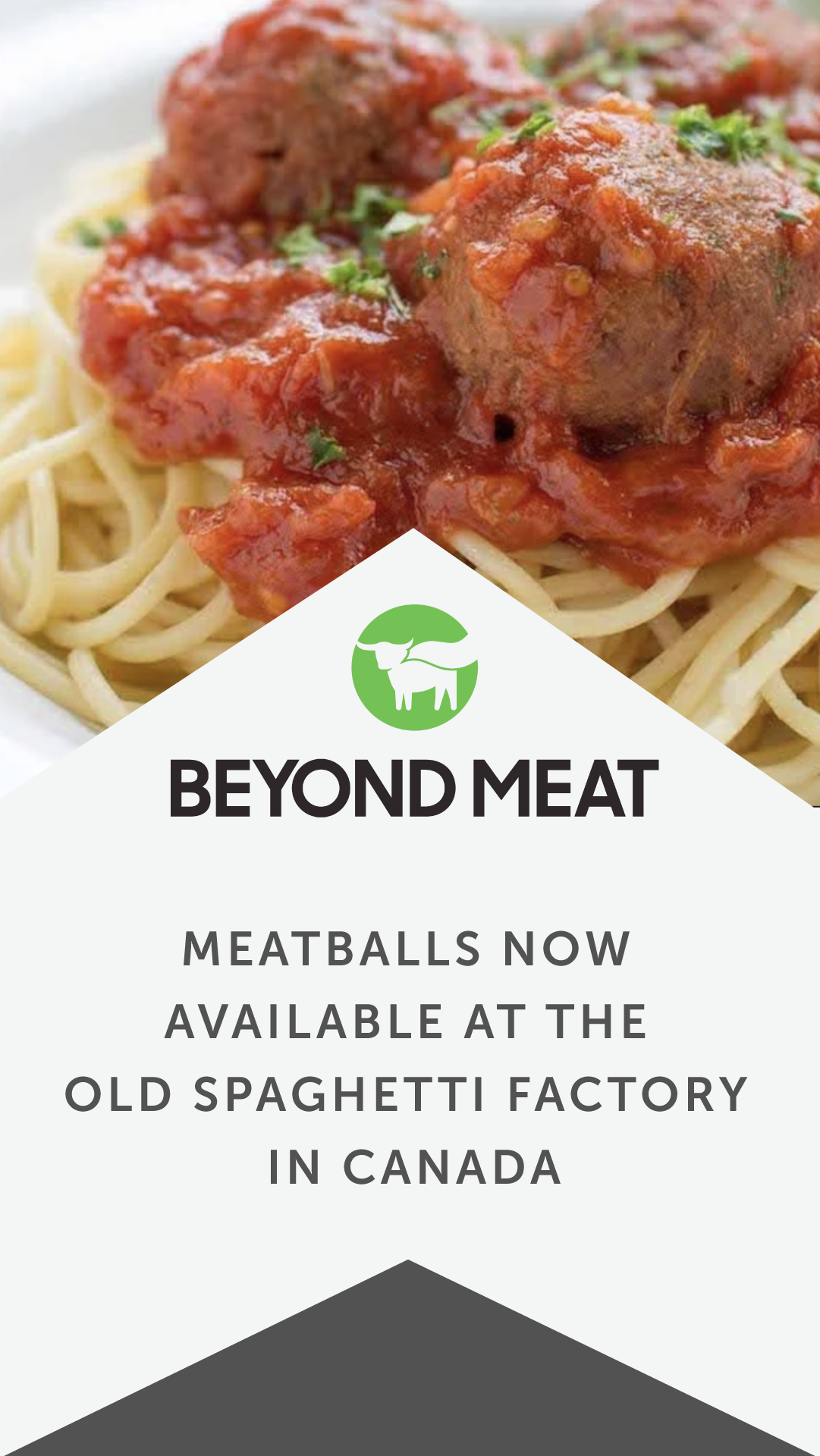 Beyond Meatballs Now Available At The Old Spaghetti Factory In Canada Vegan Fast Food Spaghetti Factory Food