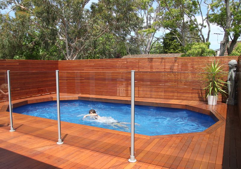 Riveting deck pool designs above ground with horizontal for Above ground pool privacy ideas