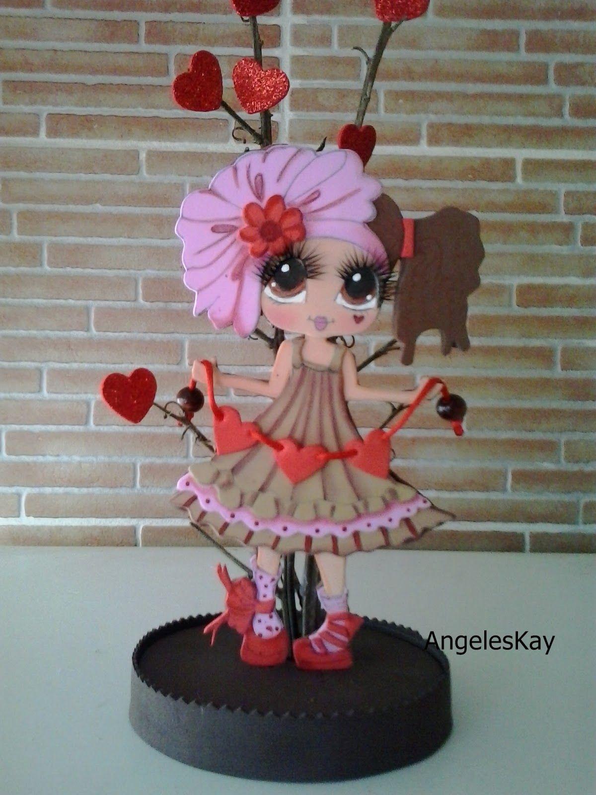 Buenos días amig @s  hoy comparto otra nueva muñequita para el día de los enamorados, creo que quedó graciosa que te parece.            ...