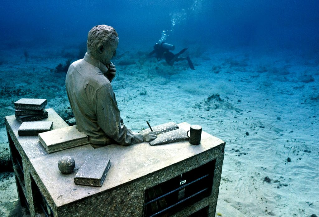 Discover an unusual adventure at the world's first underwater sculpture park in Mexico. Fusing art and conservation, Museo Subacuático de Arte is an artificial reef populated with hundreds of statues cast from real people — mainly locals from the region.