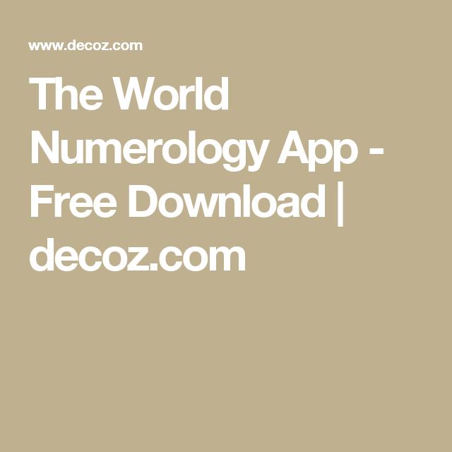 The World Numerology App - Free Download | decoz com | Imp