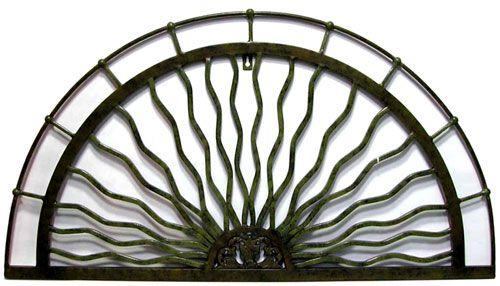 wrought iron sun rays wall art | Wrought Art | Pinterest ...